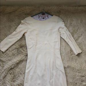 Velvet by Graham and Spencer cream midi dress